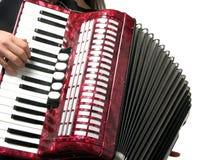 Woman playing accordion Royalty Free Stock Image