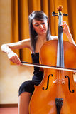 Woman playing cello Stock Photography