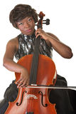 Woman Playing a Cello Stock Photo