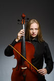 The woman playing classical cello in music concept Royalty Free Stock Images