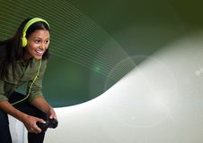 woman playing with computer game controller Stock Image