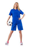 Woman playing football Royalty Free Stock Photos