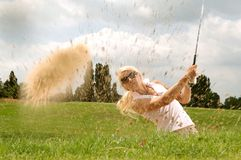 Woman Playing Golf during Daytime Stock Photo