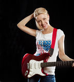 Woman Playing the Guitar Stock Image
