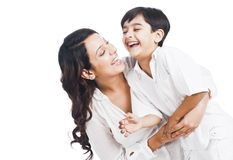 Woman playing with her son Stock Photo