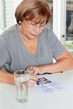 Woman Playing Leisure Games Stock Photos