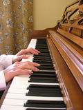 Woman Playing the Piano Royalty Free Stock Photo