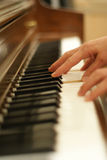 Woman Playing Piano Royalty Free Stock Photos