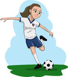 Woman playing soccer Royalty Free Stock Photo