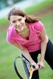 Woman playing tennis Royalty Free Stock Image