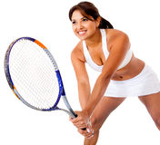 Woman playing tennis Stock Photos
