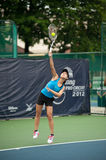 Woman playing tennis . Stock Image