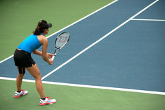 Woman playing tennis . Royalty Free Stock Photo