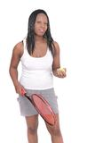 Woman playing tennis Royalty Free Stock Images