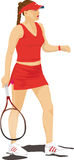 Woman Playing Tennis Stock Images