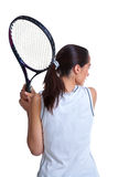 Woman playing tennis isolated Royalty Free Stock Photography