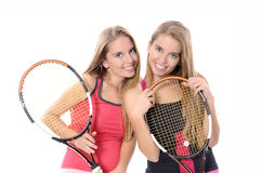 Woman playing tennis Royalty Free Stock Photos