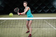 Woman playing tennis Royalty Free Stock Photo