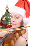 Woman playing the viola Royalty Free Stock Photos
