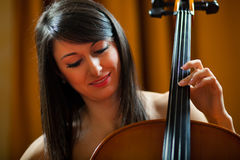 Woman playing viola Stock Photo