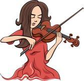 Woman playing violin illustration Royalty Free Stock Photography