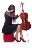 Woman playing violin Stock Photo