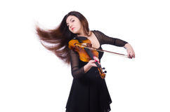 Woman playing violin Royalty Free Stock Photography