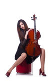 Woman playing violin isolated Royalty Free Stock Photos