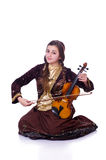 Woman playing violin Royalty Free Stock Photos