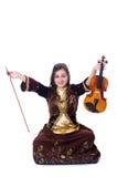 Woman playing violin Royalty Free Stock Image