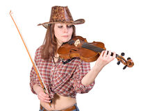 Woman plays the viola Royalty Free Stock Photo