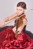 Woman plays the viola Stock Image