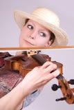 Woman plays the viola Stock Photo