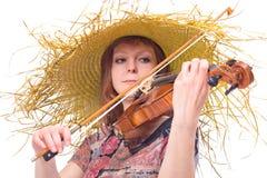 Woman plays the viola Royalty Free Stock Photos