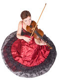 Woman plays the viola Royalty Free Stock Images