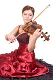 Woman plays the viola Stock Photos