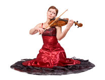Woman plays the viola Stock Photography