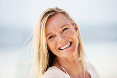 Woman with pleasant smile Royalty Free Stock Photography