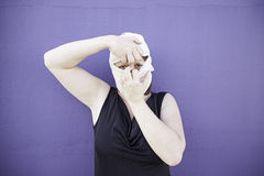 Woman plucking band Stock Photos