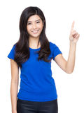 Woman point finger up Royalty Free Stock Photo