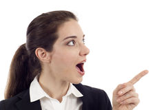 Woman Pointing Stock Image