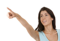 Woman pointing Stock Photos