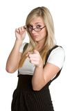 Woman Pointing Stock Photography