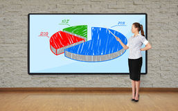 Woman pointing at chart Royalty Free Stock Photo