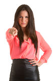 Woman Pointing Finger at You Royalty Free Stock Image