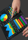 Woman Pointing at Graph Stock Images