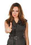 Woman pointing her finger at you Royalty Free Stock Photo