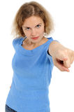 Woman pointing at you Royalty Free Stock Image