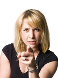 Woman pointing at you Royalty Free Stock Images