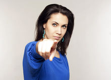 Woman pointing on you Royalty Free Stock Images